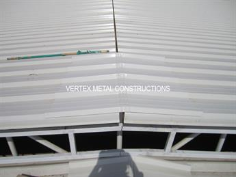 Fabrication and installation of shed using sandwich panels, GI beems and GI pipes for BIN DIRAI & PARTNERS